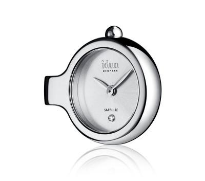 Pendant Charm-Watch mit Sunray-Muster Zifferblatt und einem weißen Stein - DCW1500