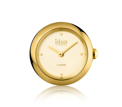 Rocking Charm-Watch mit vergoldetem Gehäuse und Champagner Zifferblatt - RCW3300