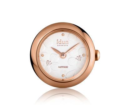 Rocking Charm-Watch mit geprägtem Blumenmuster Zifferblatt, rosévergoldetem Gehäuse und Roségolddetails - RCW4510