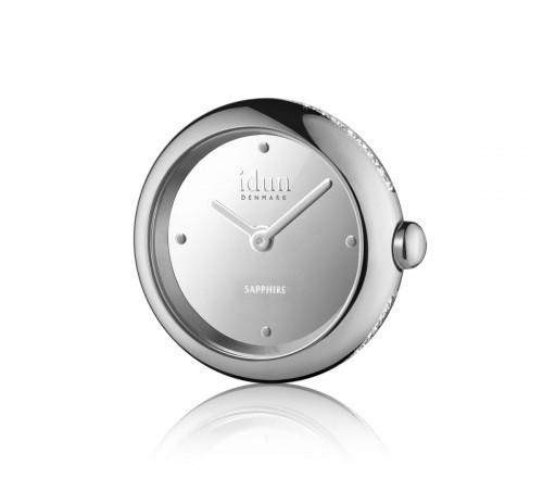 Rocking Charm-Watch mit Spiegel Zifferblatt und weißen Steinen - RCW1100CZ